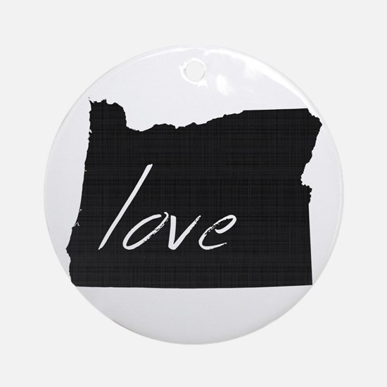 Love Oregon Ornament (Round)
