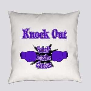 Knock Out Sexual Assault teal Everyday Pillow