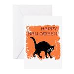 Halloween Black Cat Greeting Cards (Pk of 10)