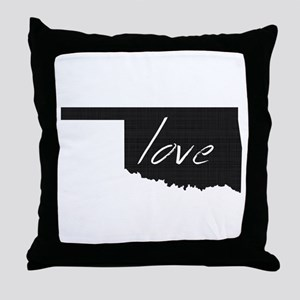 Love Oklahoma Throw Pillow