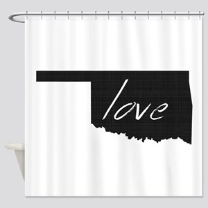 Love Oklahoma Shower Curtain