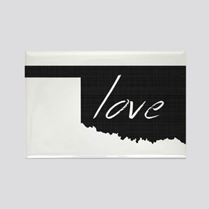 Love Oklahoma Rectangle Magnet
