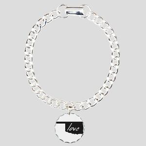 Love Oklahoma Charm Bracelet, One Charm
