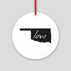 Love Oklahoma Ornament (Round)