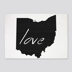 Love Ohio 5'x7'Area Rug