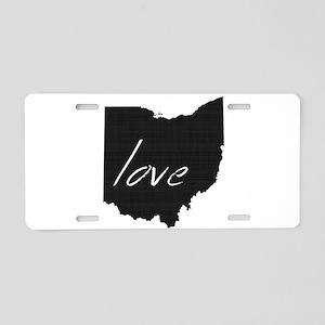 Love Ohio Aluminum License Plate