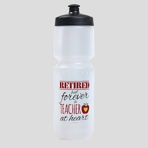 Retired But Forever a Teacher Sports Bottle