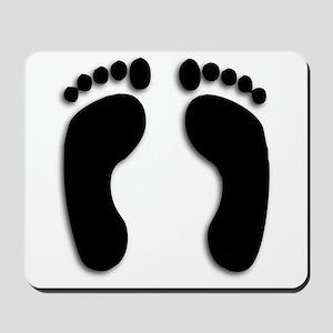 Bare foot Prints Mousepad
