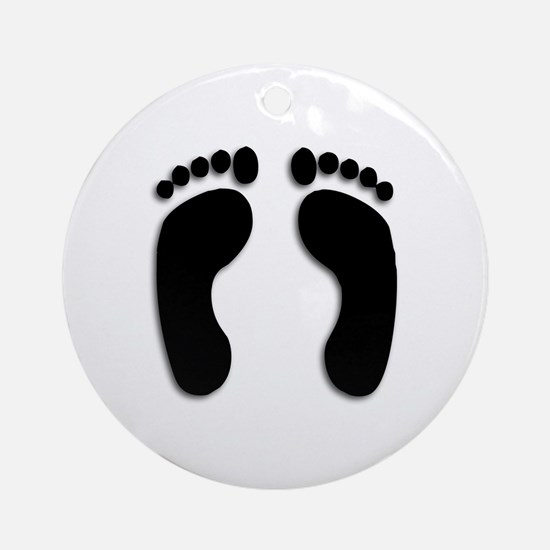 Bare foot Prints Ornament (Round)