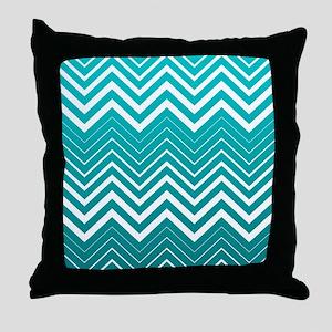 White Zigzag Chevron And Blue Green Background Thr