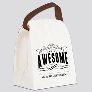 Birthday Born 2000 Awesome Canvas Lunch Bag