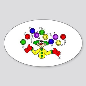 funny clown Sticker (Oval)