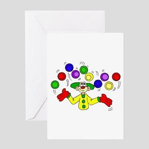 funny clown Greeting Card