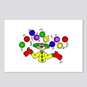 funny clown Postcards (Package of 8)