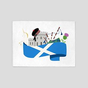 Scottish 5'x7'Area Rug