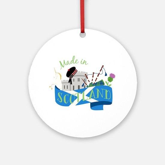 Made In Scotland Ornament (Round)