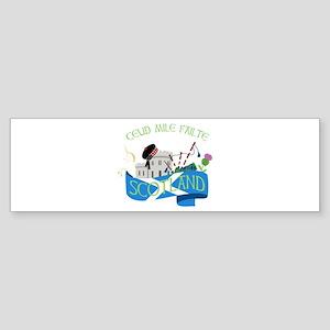 Ceud Mile Failte Scotland Bumper Sticker