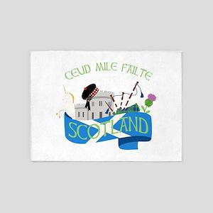 Ceud Mile Failte Scotland 5'x7'Area Rug