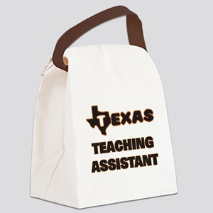 Texas Teaching Assistant Canvas Lunch Bag