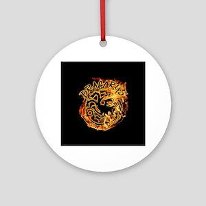 GOT Dracarys Flames Round Ornament