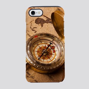 Vintage Compass On Old Paper iPhone 7 Tough Case