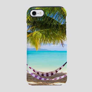 Hammock on Tropical Beach iPhone 7 Tough Case
