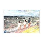 Girls Walking On Beach Print