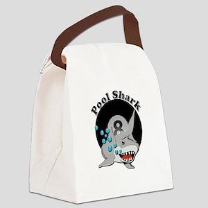Eight Ball Pool Shark Canvas Lunch Bag