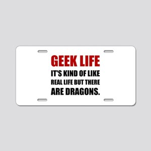 Geek Life Dragons Aluminum License Plate