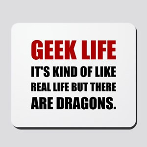 Geek Life Dragons Mousepad