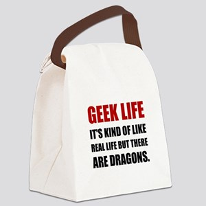 Geek Life Dragons Canvas Lunch Bag