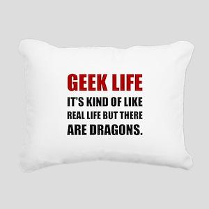 Geek Life Dragons Rectangular Canvas Pillow