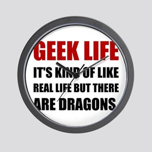 Geek Life Dragons Wall Clock