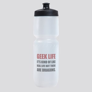 Geek Life Dragons Sports Bottle