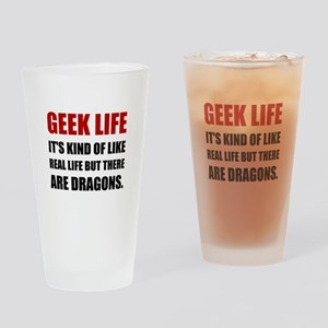 Geek Life Dragons Drinking Glass