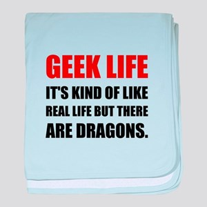 Geek Life Dragons baby blanket