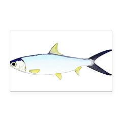 Milkfish Rectangle Car Magnet