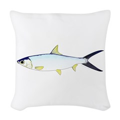 Milkfish Woven Throw Pillow