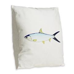 Milkfish Burlap Throw Pillow