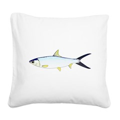 Milkfish Square Canvas Pillow