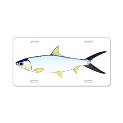 Milkfish Aluminum License Plate