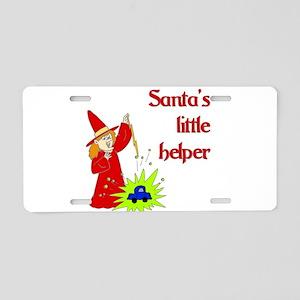 Santa's Little helper Aluminum License Plate