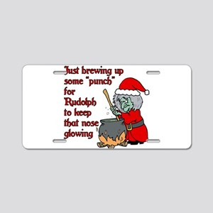 Brew for Rudolph Aluminum License Plate