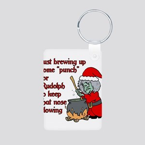 Brew for Rudolph Aluminum Photo Keychain
