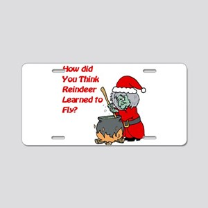 How Reindeer Fly Aluminum License Plate