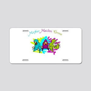 Maiden Mother Crone Aluminum License Plate