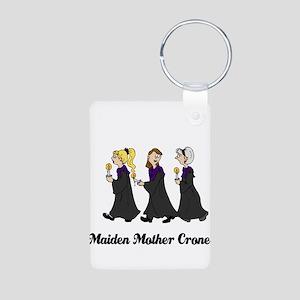 Three Women in Robes Aluminum Photo Keychain