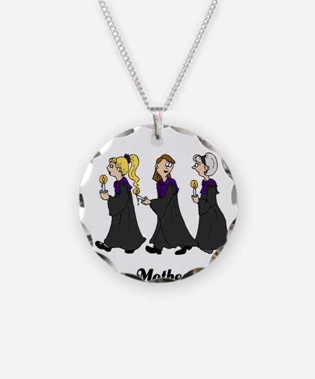 Three Women in Robes Necklace