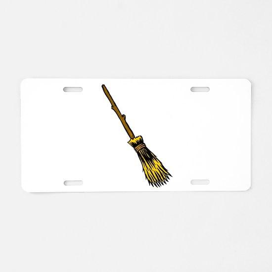 Besom/Broom Aluminum License Plate