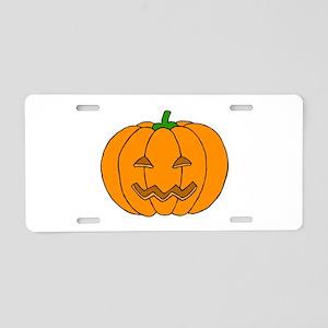 Jack O Lantern Aluminum License Plate